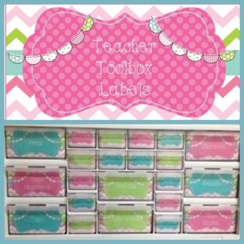 Editable Teacher Toolbox {Pink/Green/Turquoise}