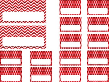 Editable Teacher Toolbox {Red Dots & Chevron}