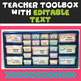 """Editable Teacher Toolbox & Three Drawer Labels in """"Crazy for Color"""""""