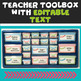 Editable Teacher Toolbox & Three Drawer Labels in Pink, Turquoise & Lime Green