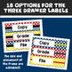 Editable Teacher Toolbox & Three Drawer Labels in Primary Colors