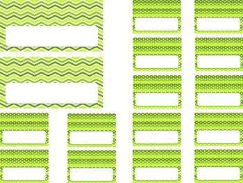 Editable Teacher Toolbox {Yellow Green Dots & Chevron}