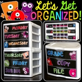 Teacher Toolbox Labels and Sterilite Drawer Labels {Monsters Edition}