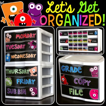 Editable Teacher Toolbox and More! {Monsters Edition}