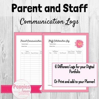 Editable Teacher Logs Bundle