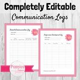 Editable Teacher Logs Bundle