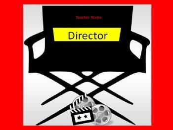 Editable Teacher nameplate Locker Tag Desk Tag  Movie Theme