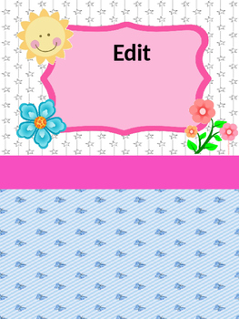 Editable Teacher or Student Binder Covers. Portadas para maestra y estudiantes