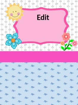 Editable Teacher or Student Binder Covers. Portadas para m