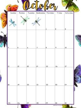 Editable Teacher's Binder/Planner: Butterfly Themed