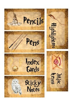 Editable Teacher's Toolbox Harry Potter Style
