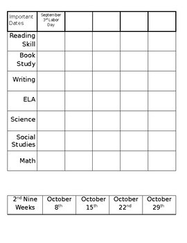 Editable Teaching Sequence / Curriculum Planning Resource
