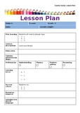 Editable Teaching and Learning Sequence/Lesson Plan