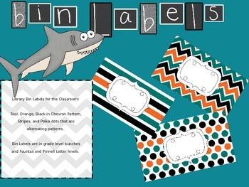 Editable Teal, Black, Orange Labels
