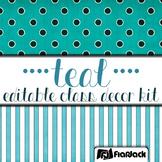 Editable Teal Class Decor Kit