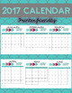 Editable Teal, Gray and Pink Teacher Planner and 2017 Calendar