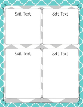 Editable {Teal and Gray} Newsletter Template