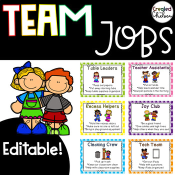 Editable Team Jobs