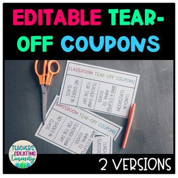 Editable Tear-Off Coupons