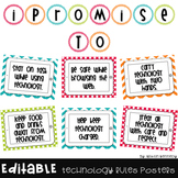 Technology Expectations Posters in Bright Chevron and Polk