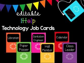 Editable Technology Job Cards