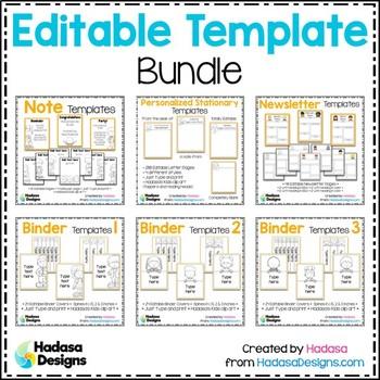 Editable Template BUNDLE - Hadasa's Kids Edition