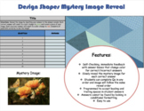 Editable Template Design Shapes Mystery Image Reveal 10 Qs