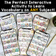 Editable Templates Interactive VocAPPulary™ | Smartphone Vocabulary Activities
