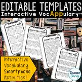 Editable Vocabulary Templates Interactive VocAPPulary™ | S