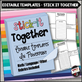 Editable Templates - Stick-It-Together Collaborative Activity