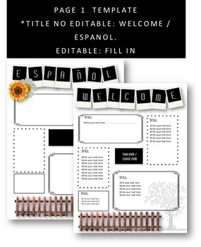 Editable Templates Syllabus for Spanish or any subject