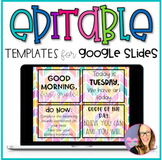 Editable Templates for GOOGLE SLIDES- Rainbow Theme