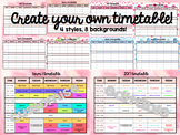Editable Term Timetable / Daily Planner