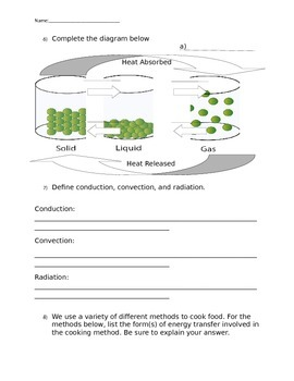 Editable Test About Heat and the particle theory