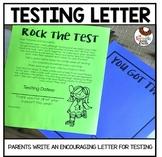 Editable Testing Letter for Parents