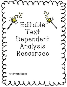 Editable Text Dependent Analysis Resources