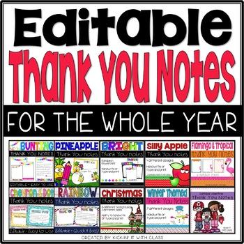 Thank You Cards For Teachers {Bundle}