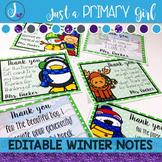 Editable Thank You Notes