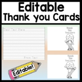 Editable Thank You Cards for Students to Write {4 Styles!}