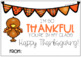 """Editable """"Thankful"""" Cards for Students"""