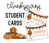 "Editable ""Thankful"" Cards for Students"