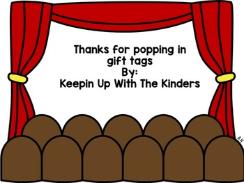 Editable Thanks for Popping in Gift Tags