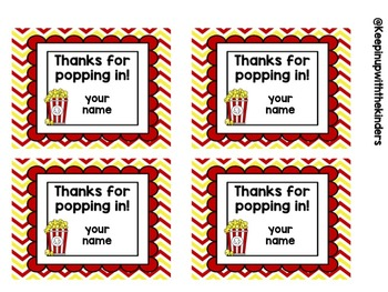 graphic relating to Thanks for Popping by Free Printable named Editable Because of for Popping inside Reward Tags