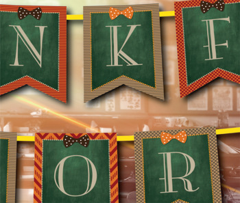 Editable Thanksgiving Banner!