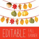 Editable Fall Banner! - Autumn Leaves