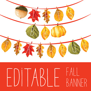 photo relating to Fall Banner Printable known as Editable Slide Banner! - Autumn Leaves