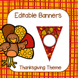 Editable Thanksgiving Banners
