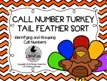 Editable Thanksgiving Call Number Turkey Tail Feather Sort