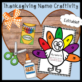 Editable Thanksgiving Craftivity - The Name Turkey