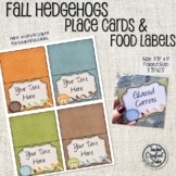 Editable Thanksgiving Hedgehog Place Cards - Desk top tags